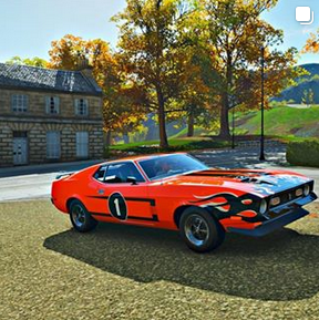 Ford car in game