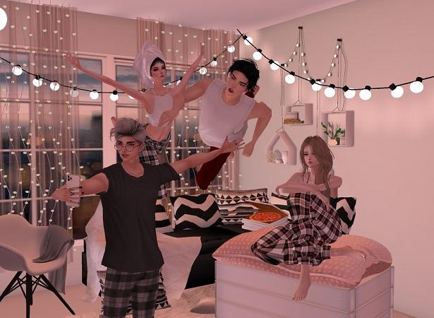 IMVU Pajama parties